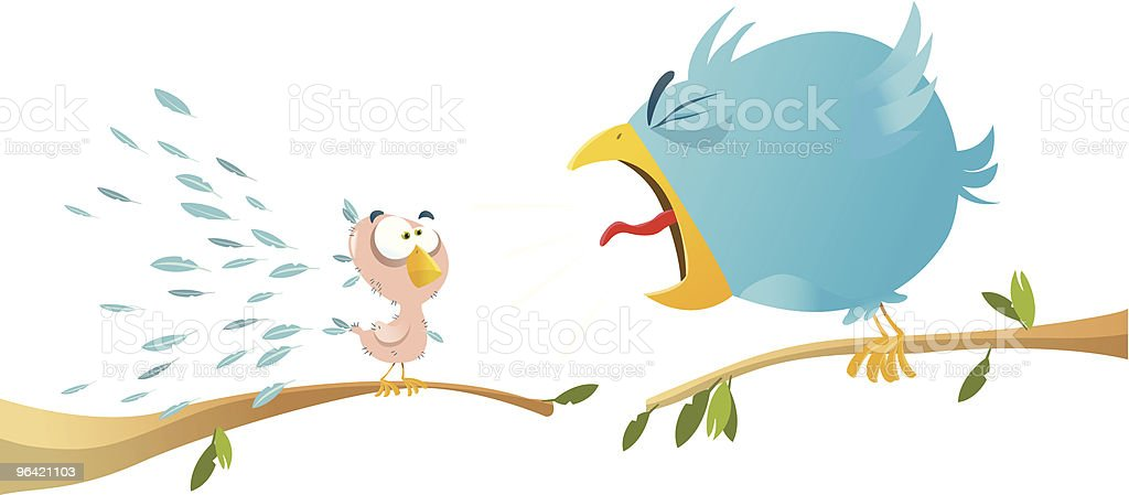 Twittering competition vector art illustration