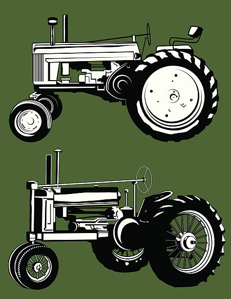 Old Tractor Clip Art : Royalty free antique tractor clip art vector images