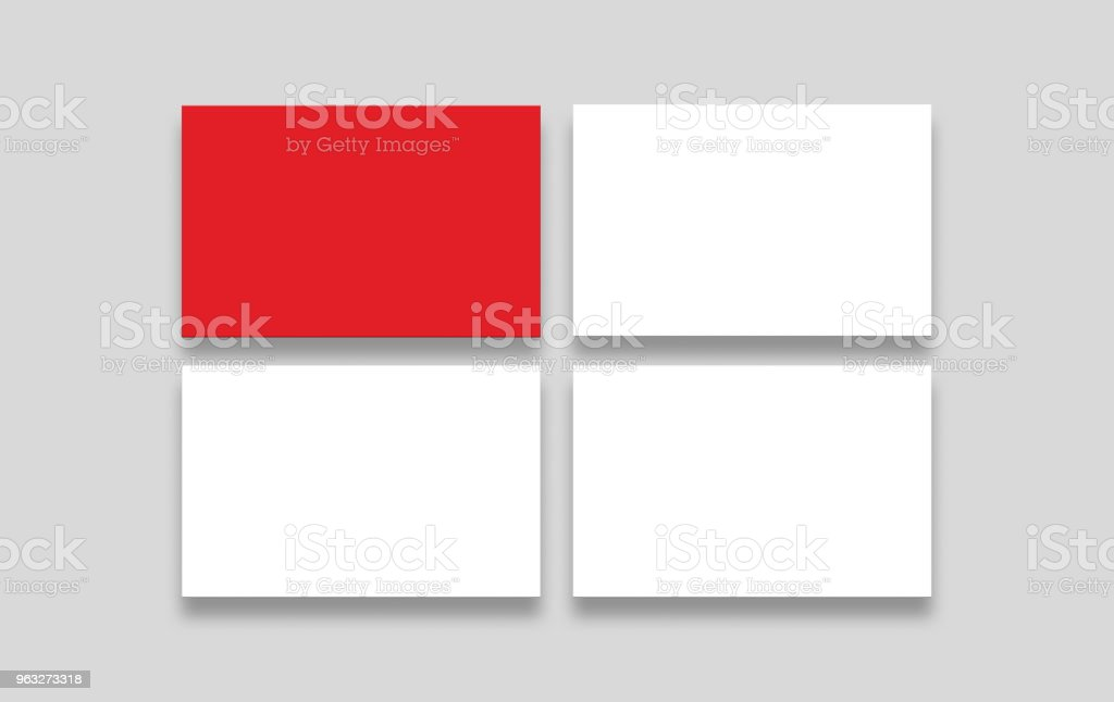 Two blank business card mockup double sided business cards with red two blank business card mockup double sided business cards with red up side and white reheart Choice Image