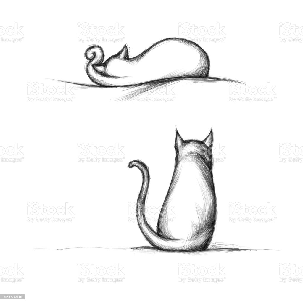 Two cats – Vektorgrafik