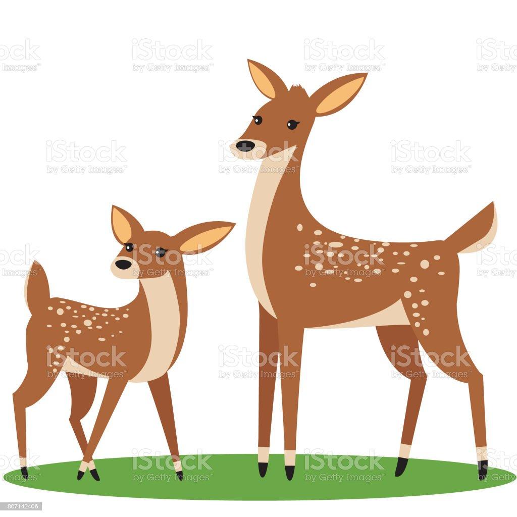 royalty free baby deer clip art vector images illustrations istock rh istockphoto com deer clipart transparent background deer clipart silhouette