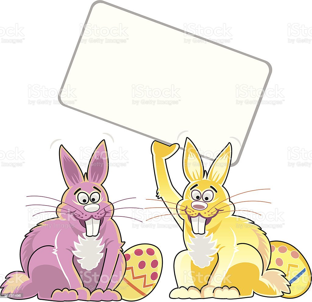 Two Clip Art to Color Bunny