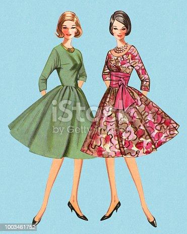istock Two Fashionable Women 1003461752