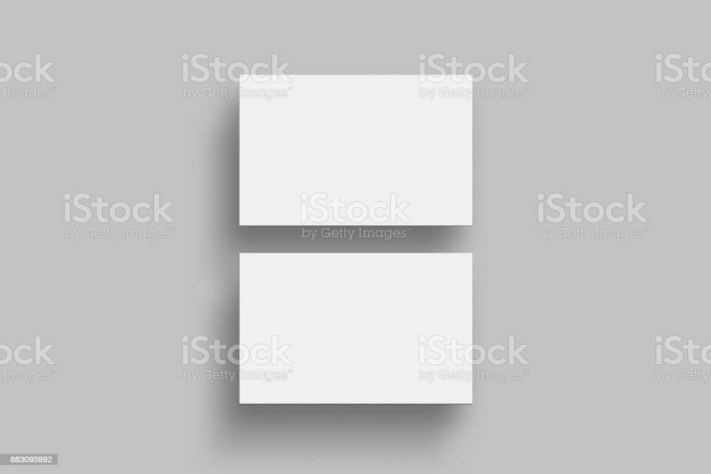 Two horizontal business card mock up blank business card two horizontal business card mock up blank business card presentation template royalty free two wajeb Choice Image