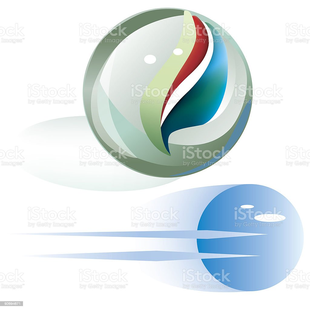 Two marbles.eps royalty-free two marbleseps stock vector art & more images of aggression
