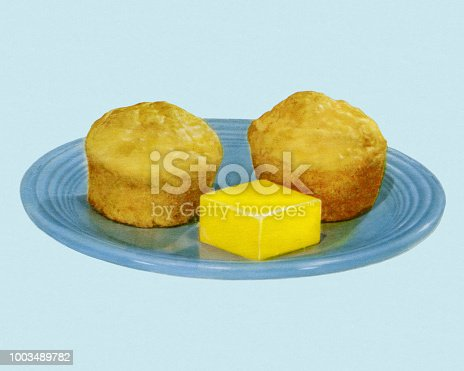 Two Muffins and Butter