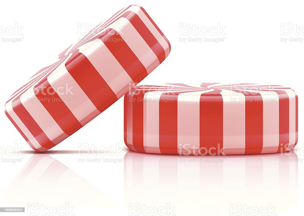 Two striped candies vector art illustration