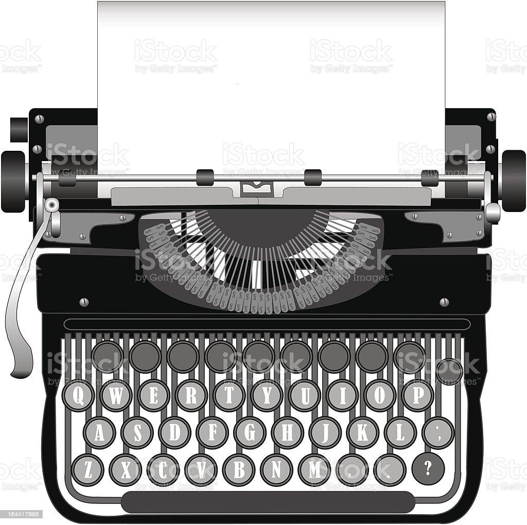 Typewriter royalty-free typewriter stock vector art & more images of antique