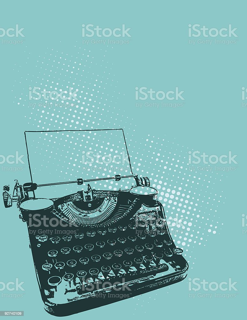 Typewriter Illustration royalty-free stock vector art