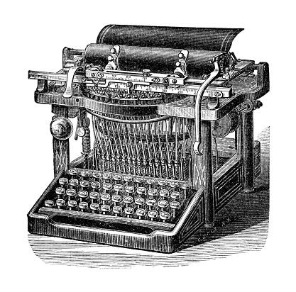 Typewriter Remington Model 7 from 1898
