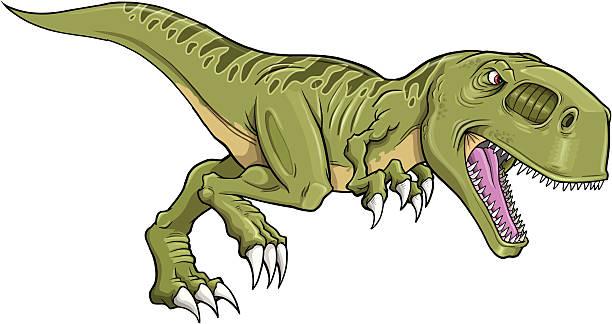 Tyrannosaurus Rex Dinosaur vector art illustration