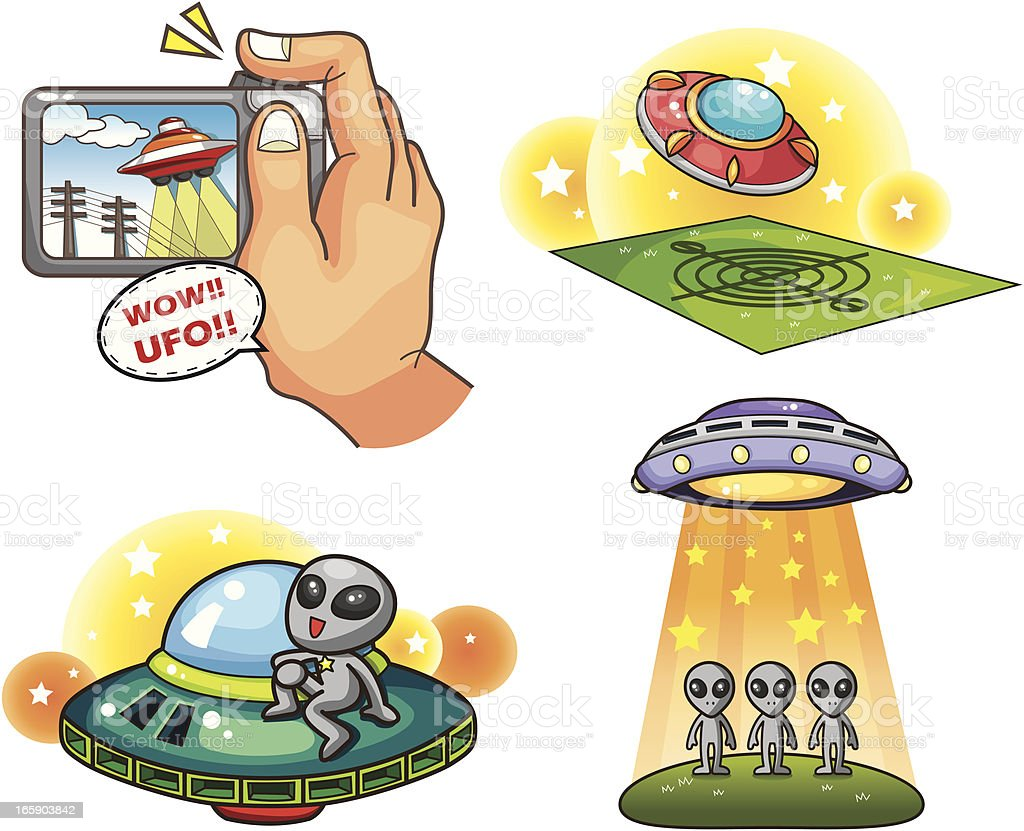 ufo vector art illustration