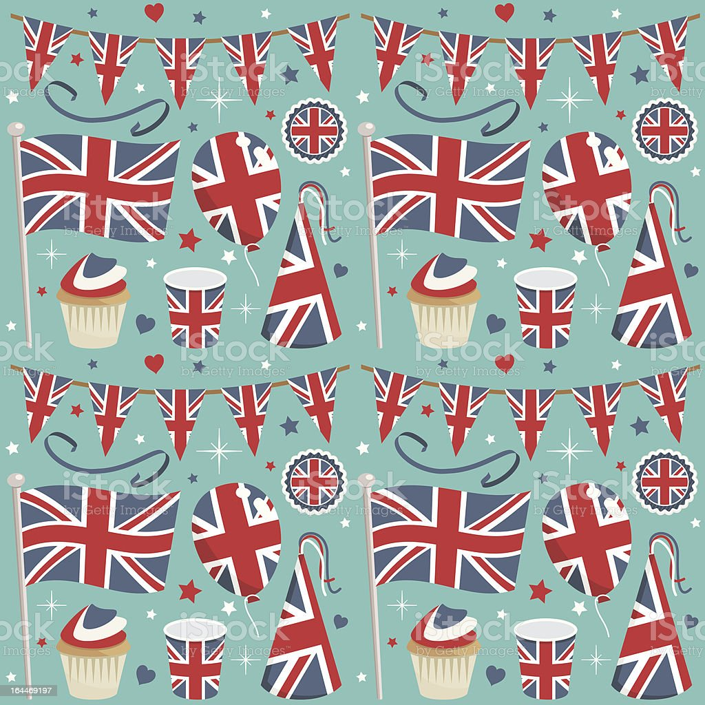 uk party pattern vector art illustration