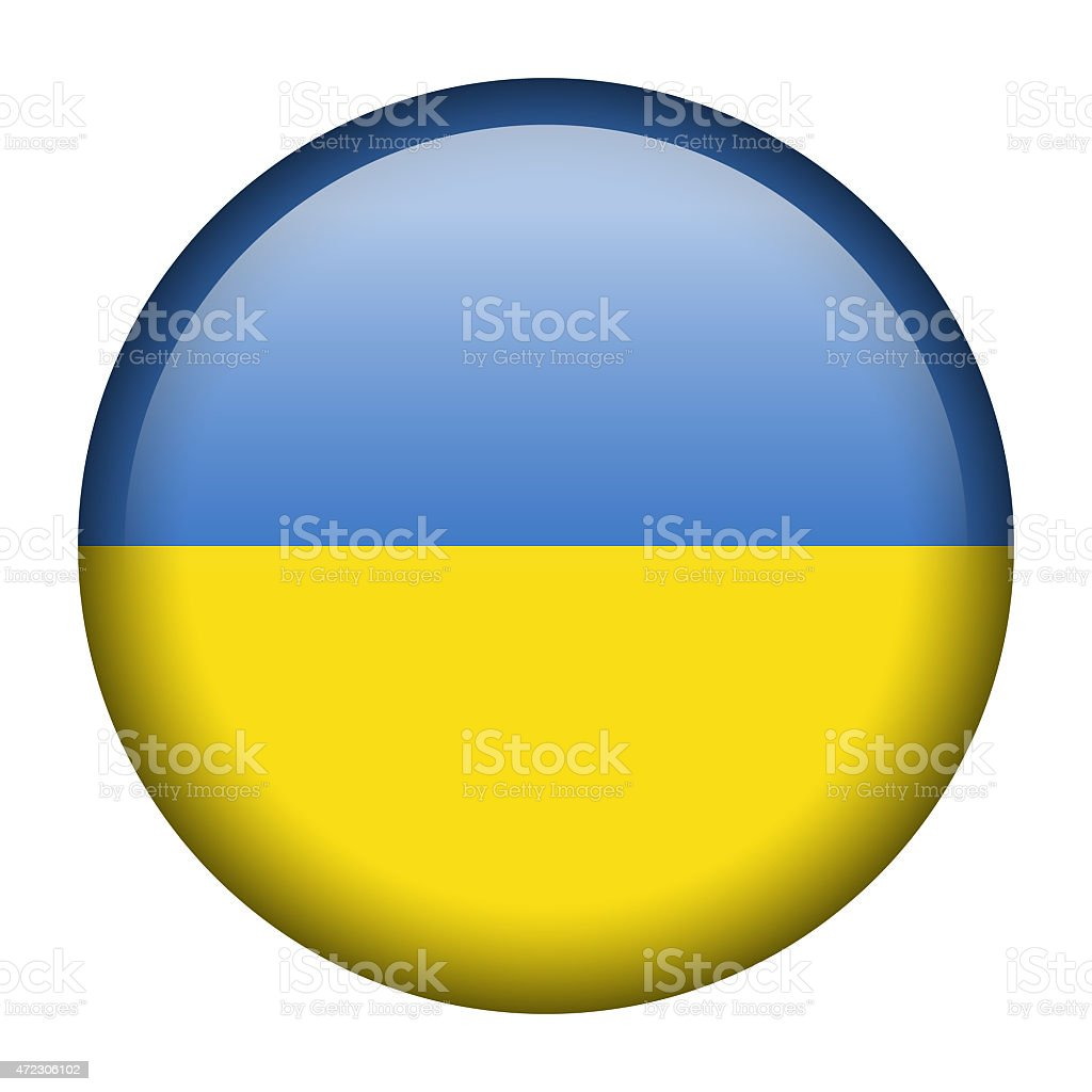 Ukraine flag button royalty-free ukraine flag button stock illustration - download image now