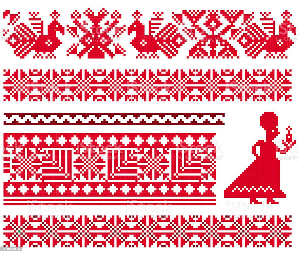 Ukranian Slavonic patterns royalty-free stock vector art