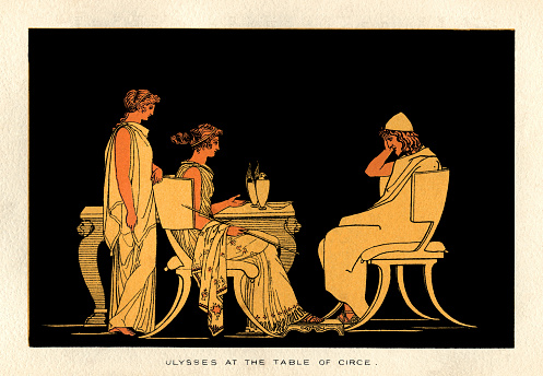 Ulysses at the table of Circe