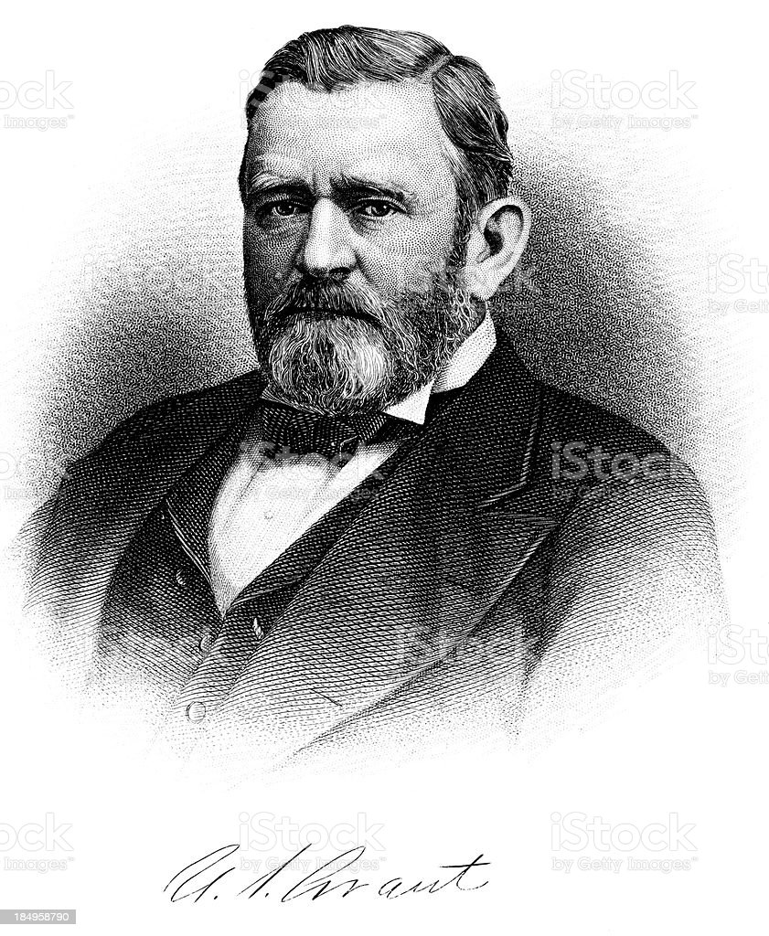 Ulysses S. Grant royalty-free stock vector art