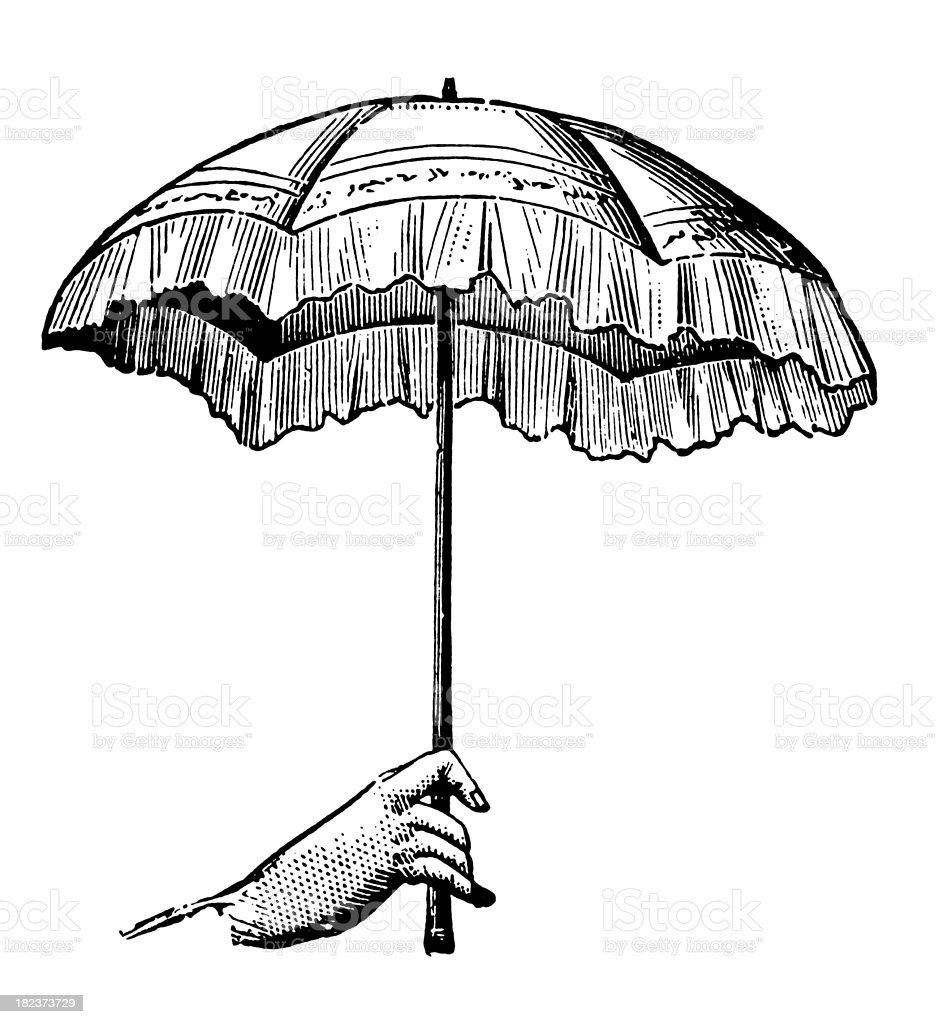 Umbrella | Antique Design Illustrations royalty-free stock vector art