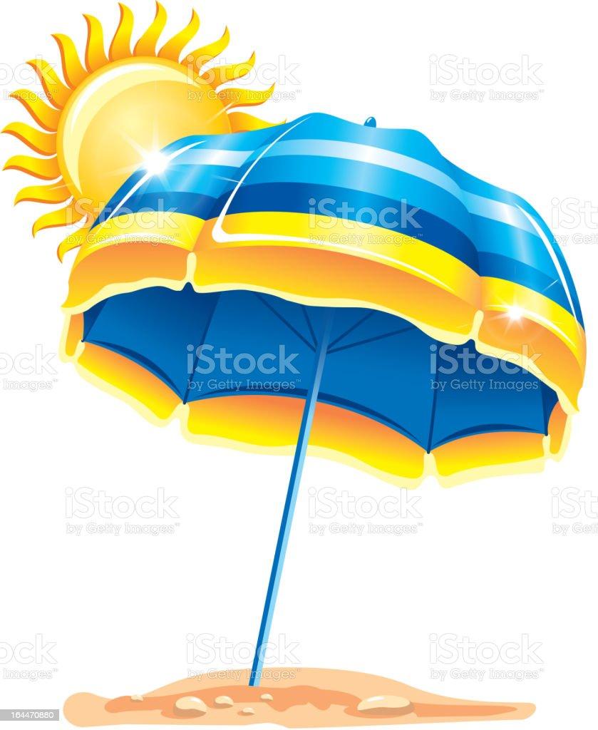 Sonnenschirm strand comic  Einen Sonnenschirm Am Strand Stock Vektor Art und mehr Bilder von ...