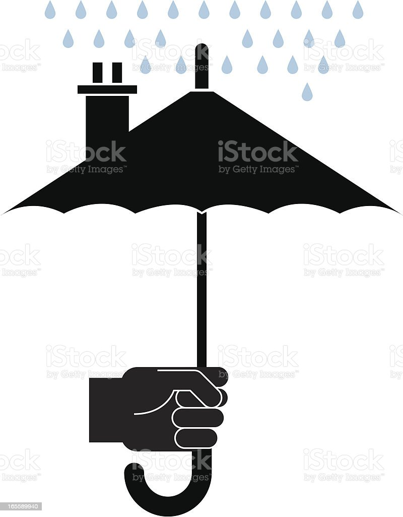 Umbrella two vector art illustration