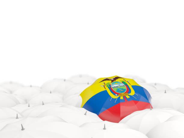 Umbrella with flag of ecuador ベクターアートイラスト