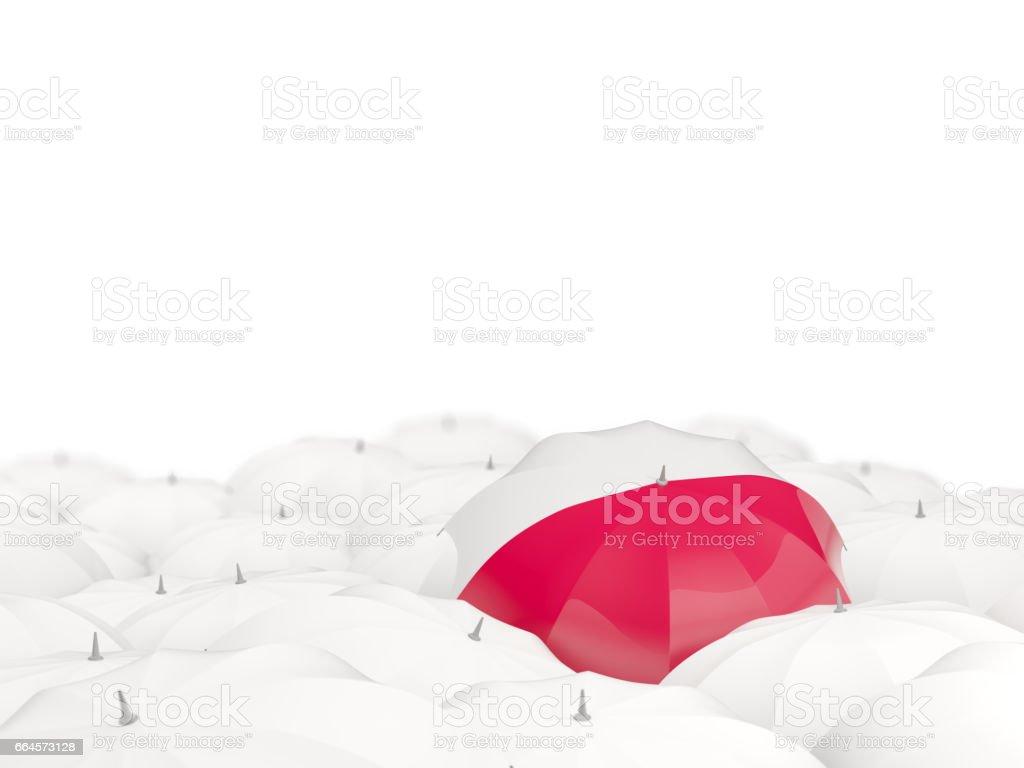 Umbrella with flag of poland - ilustración de arte vectorial