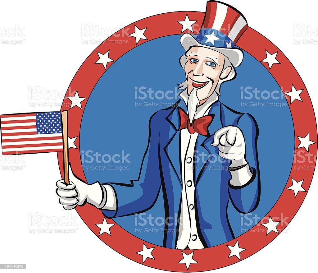 Uncle Sam vector art illustration