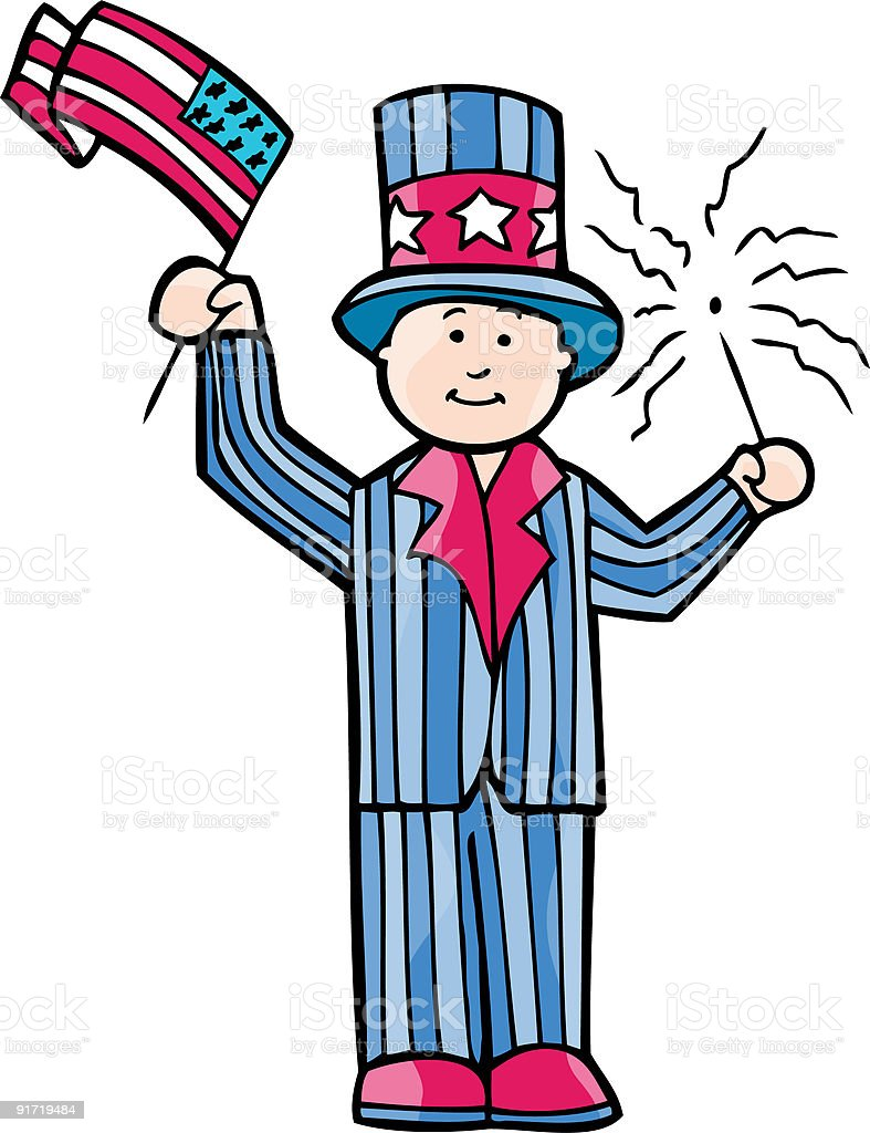 Uncle Sam royalty-free stock vector art