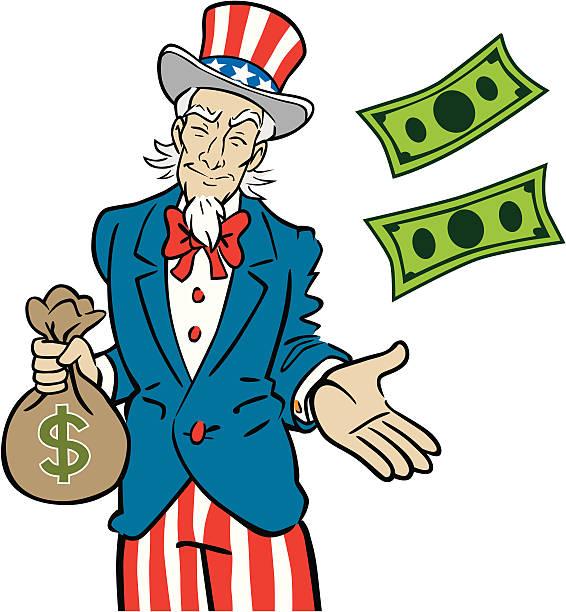 Uncle Sam Taking Money