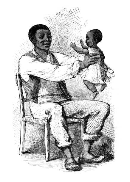Uncle Tom vector art illustration