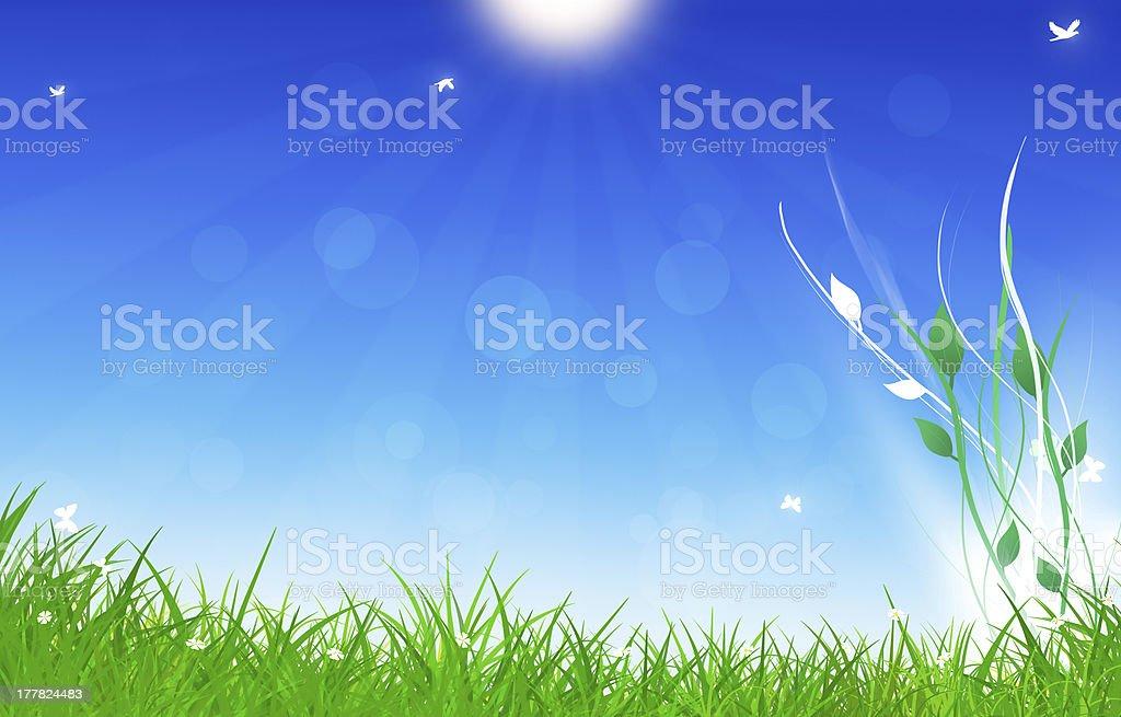 Under Summer Shiny Sun royalty-free stock vector art