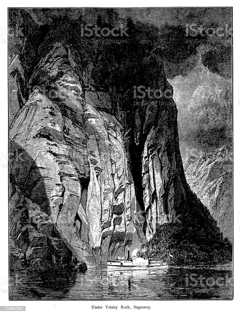 Under Trinity Rock, Saguenay, Quebec royalty-free under trinity rock saguenay quebec stock vector art & more images of 19th century