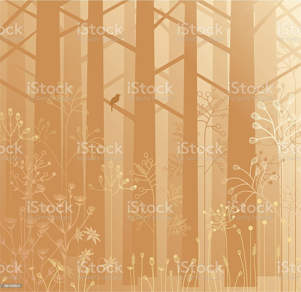 Undergrowth in the mist royalty-free undergrowth in the mist stock vector art & more images of backgrounds