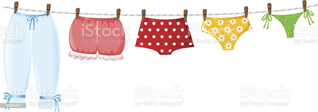 Underwear evolution vector art illustration