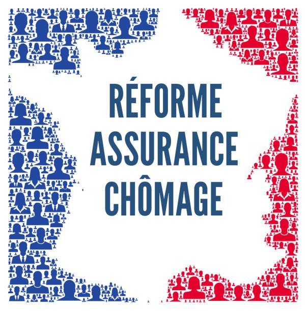 unemployment insurance reform in france - unemployment stock illustrations