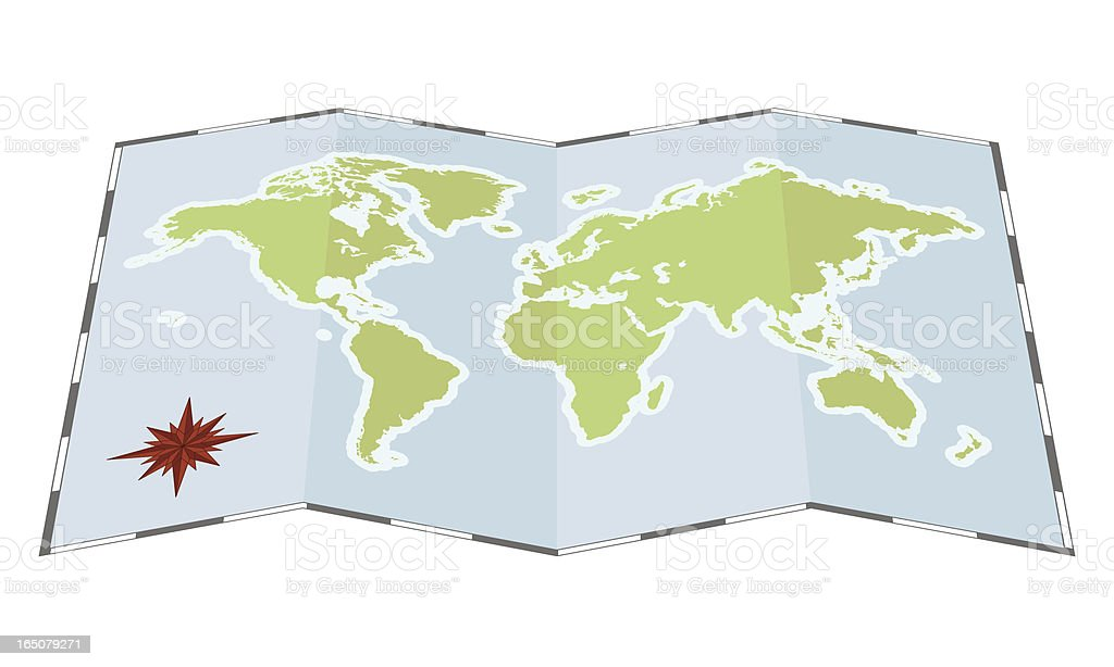 Unfolded world map flat stock vector art more images of africa unfolded world map flat royalty free unfolded world map flat stock vector art amp gumiabroncs Gallery