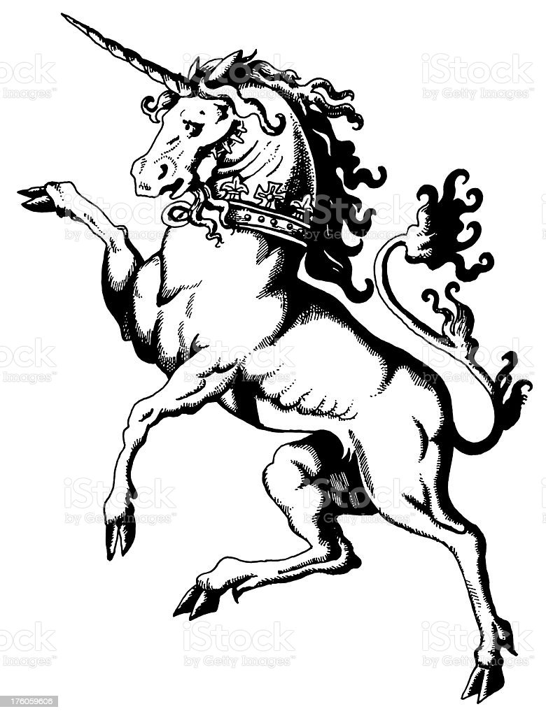 Unicorn | Antique Greece Illustrations royalty-free stock vector art