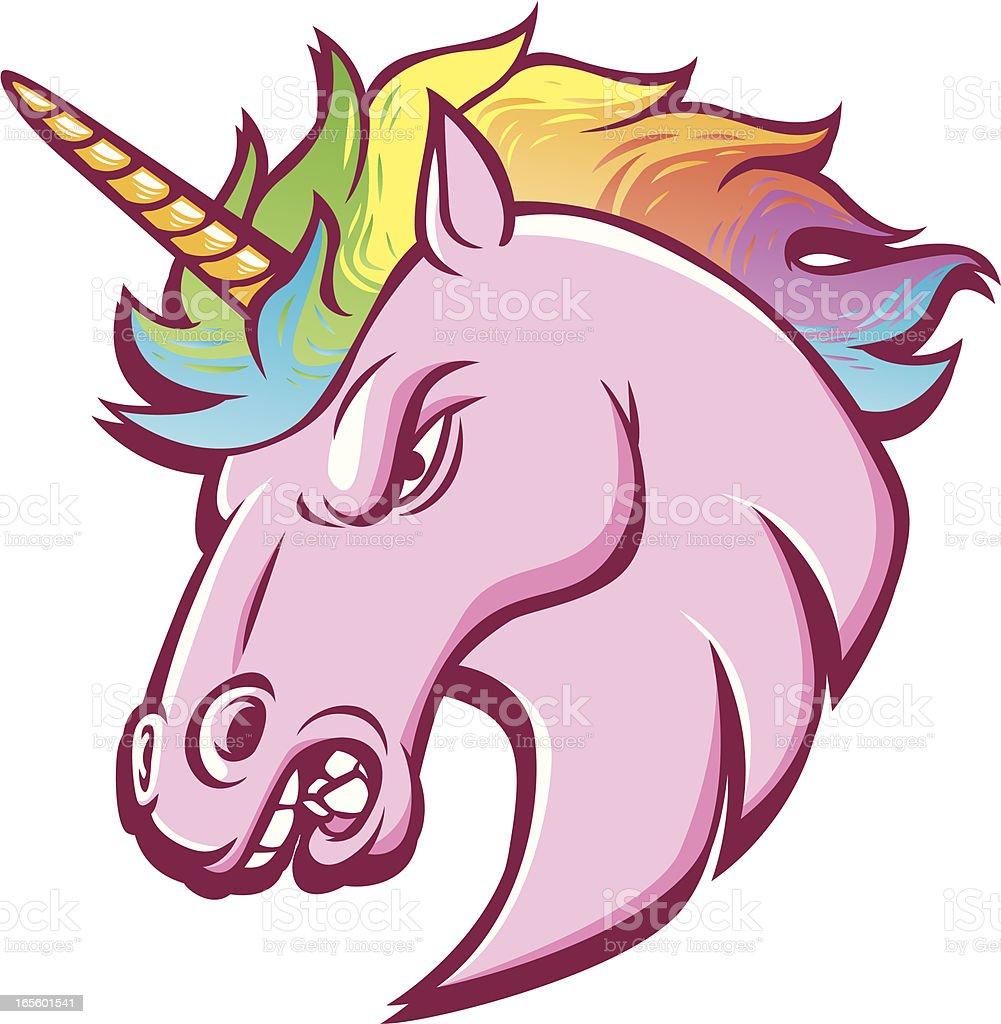 unicorn vector art illustration