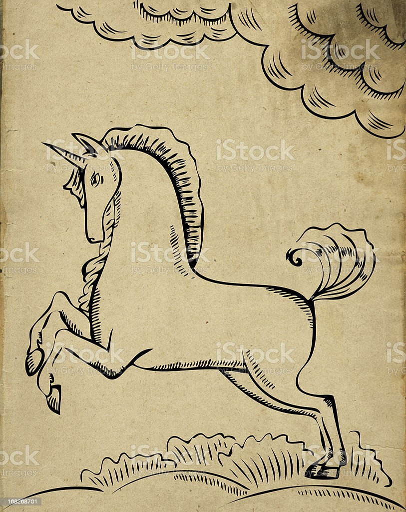 Unicorn royalty-free unicorn stock vector art & more images of allegory painting