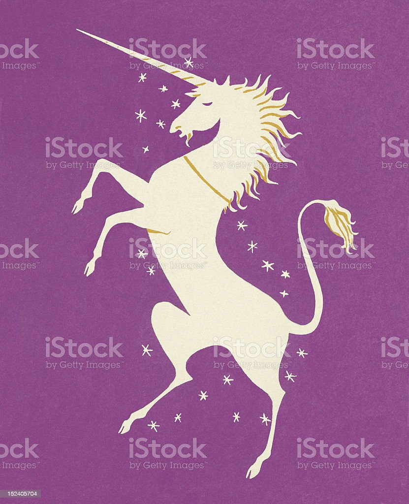 Unicorn Rearing Up royalty-free stock vector art