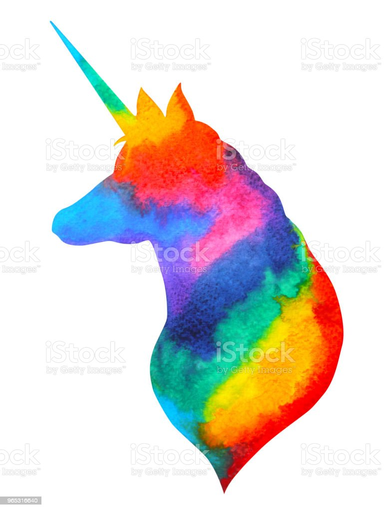 unicorn watercolor painting hand drawing fantasy illustration design royalty-free unicorn watercolor painting hand drawing fantasy illustration design stock vector art & more images of animal