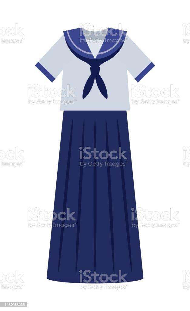 ロング スカートの制服 19701979年のベクターアート素材や