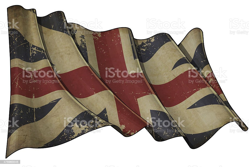 Union Jack 1606–1801 (The King's Colours) Historic Flag royalty-free stock vector art