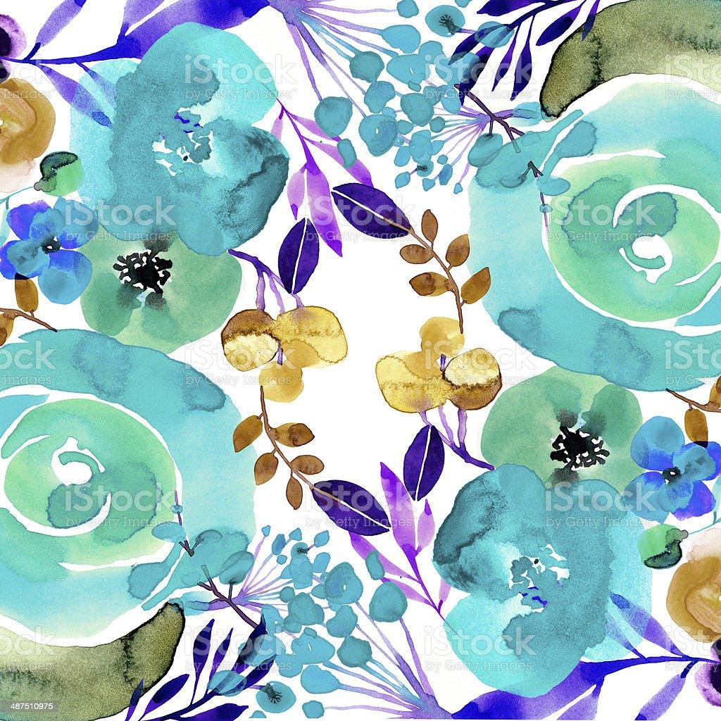 Unique Handpainter Floral Wallpaper Stock Vector Art More Images