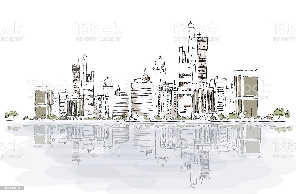 United Arab Emirates background vector art illustration
