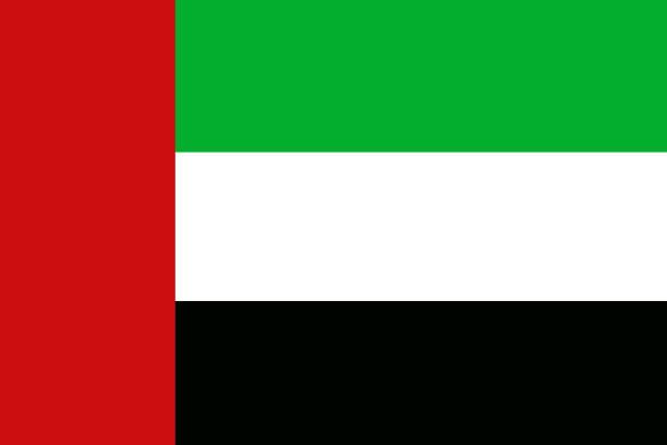 united arab emirates flag 3d illustration symbol, uae - uae flag 幅插畫檔、美工圖案、卡通及圖標