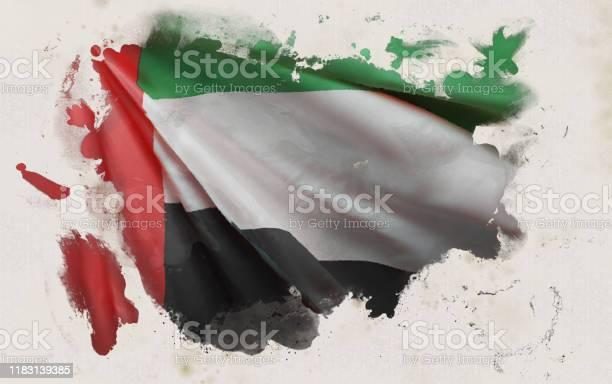 阿拉伯聯合大公國國旗阿聯酋民族色彩背景3d渲染向量圖形及更多國旗圖片