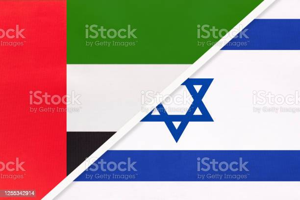 United Arab Emirates Or Uae And Israel Symbol Of National Flags From Textile Championship Between Two Countries - Stockowe grafiki wektorowe i więcej obrazów Azja