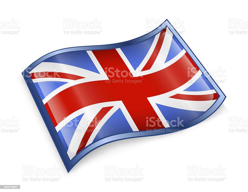 United Kingdom Flag Icon vector art illustration