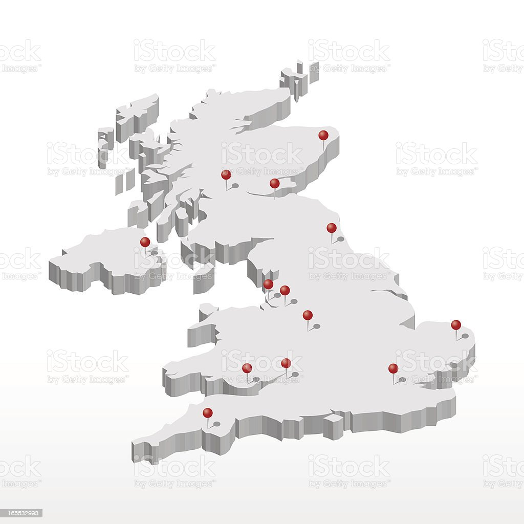 United Kingdom vector art illustration